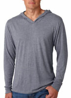Next Level Adult Unisex Triblend Long-Sleeve Pullover Hoodie T Shirt. N6021 0ee09bfe4