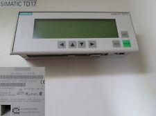 SIEMENS SIMATIC TD 17 6AV3 017-1NE30-0AX0 20-4 #3333