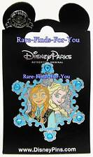 Disney Park Frozen Movie Princess Anna Elsa Jewels and Glitter Snowflake Pin NEW
