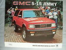 GMC S-15 Jimmy brochure 1985 Canadian market