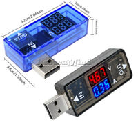 USB Charger Tester Dual Display Voltmeter Ammeter Voltage Current Meter DC 5V