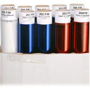 25 x Full Rolls (25ft X 4ft) Lighting Filter Colour Effects Gel