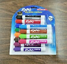 New Sealed Expo Low Odor Dry Erase Markers Chisel Tip Assorted Colors 12count