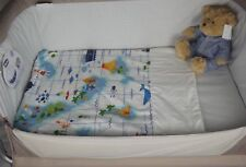 Moses Basket Light Weight Quilt Coverlet With Soft Fleece Backed Lining / Coast
