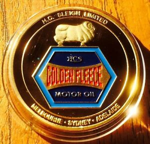 Golden Fleece #2 Petroleum Petrol Collectable Challenge Coin Finished 24k Gold