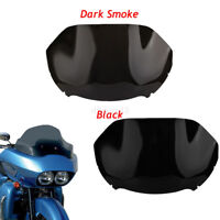 moto pare-brise Windshield Pare brise pour 14-17 Harley double light Road Glide