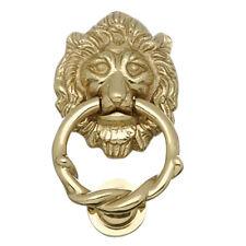 Door Knocker Lion Cast Brass 6 1/4 H x 3 5/8 W | Renovator's Supply