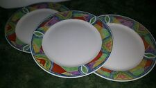 "Lot of 3 Majesticware Oneida Crystal Rose Flower Dinner Plate 10.5"""