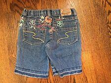 Paris Blues Toddler Girl Denim Shorts Boutique Sz 4 Adjustable Waist New
