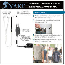 Earphone Connection Q-Release SNAKE Ipod-Style Earpiece for Harris / Macom MRK