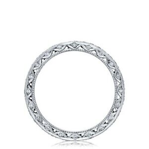 TACORI💎HT-2522BW 18k White Gold VS Diamond Crescent ETERNITY Ring💎Wedding Band