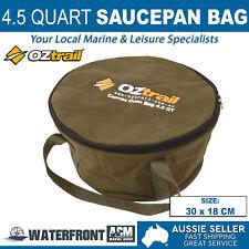 OZtrail 4.5 Quart Camp Oven Bag Brown Canvas Campfire Cookware Iron Pot Storage