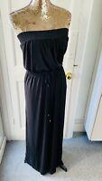 xNEXT Black Strapless Long Maxi Dress Super Comfy Size UK 20 EUR 48 RRP£28