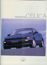1990 TOYOTA ST184 CELICA Large Format Japanese Brochure in English - Australian