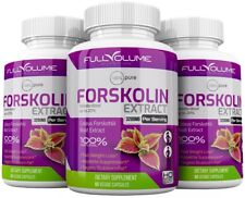 3 x Forskolin Maximum Strength 100% Pure 3200mg Rapid Results Forskolin Extract