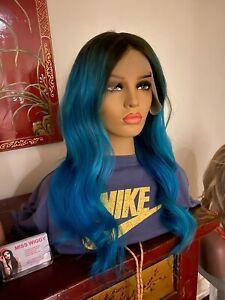 "Wig Aqua Marine Authentic Brazilian Human Hair 20"" Swiss Lace Front"