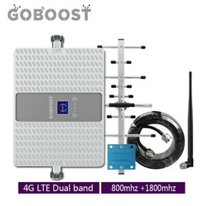 Dual Band 4G LTE 800+1800mhz B20 B3 phone Signal Booster Repeater Yagi antenna