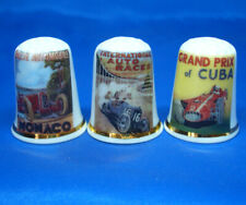 Birchcroft Thimbles -- Set of Three -- Motor Posters Grand Prix