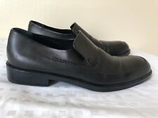 Calvin Klein Collection black leather loafer made in italy size US 11