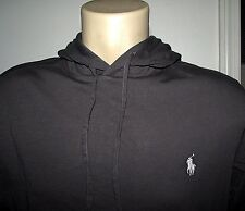Men's $50 (L) POLO-RALPH LAUREN Charcoal Pullover Jersey Hooded T-Shirt