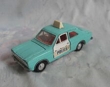 Vintage Dinky Toys Meccano Ltd Ford Escort Police Car vehicle in Baby light Blue