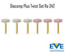 Dental Eve Diacomp Plus Twist RA 342 composite polishing diamond system NEW