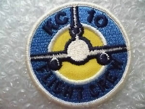 Patches- KC 10 Flight Crew Patch (New*, 7.3x7.3 cm)