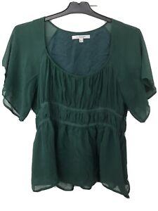 18 Marks /& Spencer blue or green satin style blouse sizes 16 20 /& 22 UK