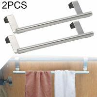 2x Handtuchstange Edelstahl Küche Handtuchhalter Tuchhalter Ablage ohne bohren