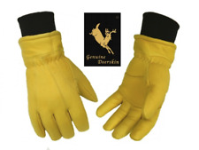 M-3XL Deerskin Leather Fleece Lined Insulate Winter Warm Glove New