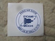 AUTOCOLLANT STICKER AUFKLEBER PARIS AIR SHOW 2003 FIDAE 2004 SALON AERONAUTIQUE