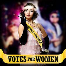 Yellow Votes For Women Sash Emmeline Pankhurst Fancy Dress Costume Suffragette