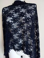 NEW LACE  SCARF SCARVES GIFT  SHAWLS WRAPS PASHMINA STOLE SHAWLS PARTY FLORAL