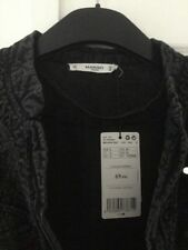Mango Black Garment Dyed Jacket Size L New With Tags