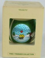 Hallmark Unbreakable Satin Ornament Peanuts Snoopy Woodstock 1980