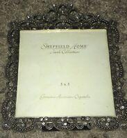 Sheffield Home Jewel Collection 5x5 Frame Genuine Austrian Crystals BNWT