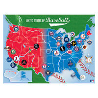 500-Piece Baseball MLB Map Jigsaw Puzzle Relaxing Fun Family Games United States