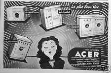 PUBLICITÉ 1955 CUISINIÈRE ACER GAZ ÉLECTRICITÉ CHARBON RÉCHAUD - ADVERTISING