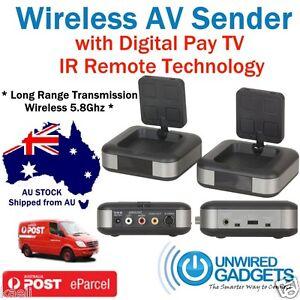 NEW5.8Ghz Wireless AV Sender TV Audio Video Transmitter Receiver New Foxtel IQ2