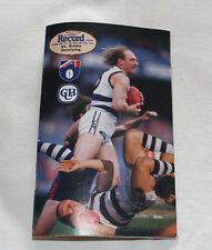 1993 AFL Football Record St Kilda Saints v Geelong Cats Vol.82 No.16