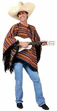 Mexican Striped Poncho Fancy Dress Stag Do Gringo Bandit Spanish