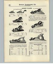 1910 PAPER AD Siegley Plane Planes Tools Wood Iron Block