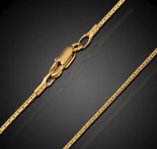 18k Gold Schlangenkette vergoldet lang 60cm 1MM dünn Damen Herren Halskette