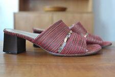 Galb Damen Sandalen Pumps UK 4,5 Schuhe TRUE VINTAGE Sandaletten Stoff gold