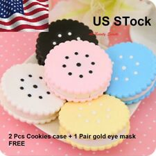 Mini Contact Lens Case Box Container Travel Kit Eye Mirror Holder+Gift【US Stock】