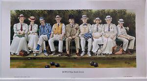 Print BOWLS - Nine Ends Down y artist 'JEDD' John R Edwards