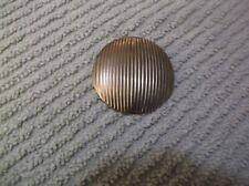 Vintage Round Ribbed Goldtone Scarf Clip