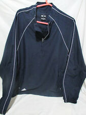 ADIDAS+MEN'S CLIMASHELL WINDBREAKER+NAVY BLUE+SIZE LARGE+ ZIP SIDE SEAM POCKETS
