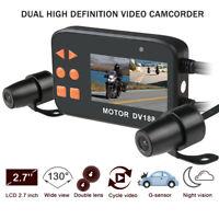 DV188 1080P Motorcycle DVR Dash Camera Driving Recorder 130 Degree Dual Lens