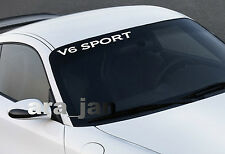 V6 SPORT windshield Vinyl Decal sticker racing speed car emblem logo WHITE
